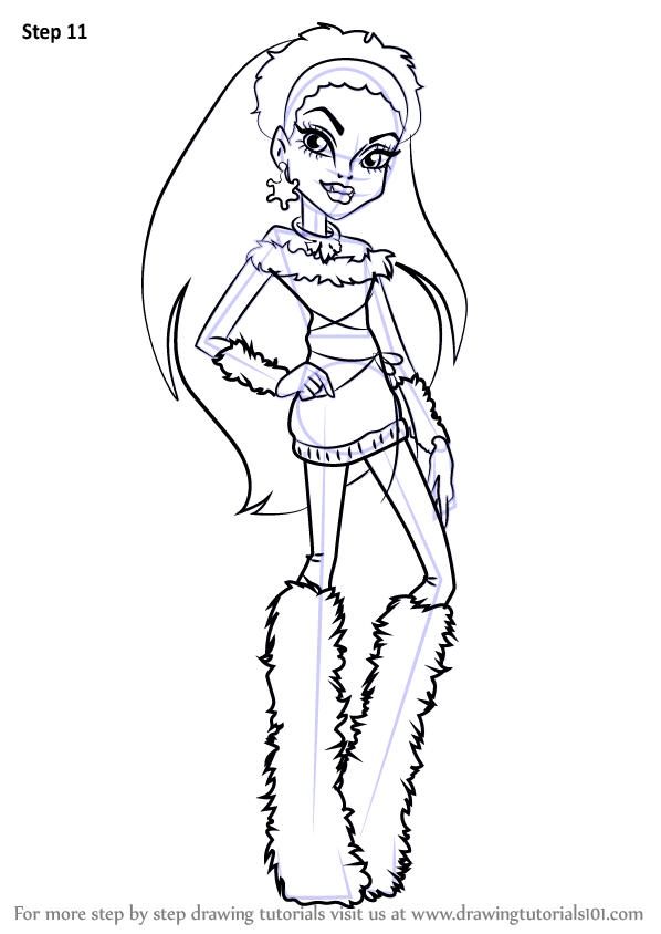 598x844 Learn How To Draw Abbey Bominable From Monster High (Monster High