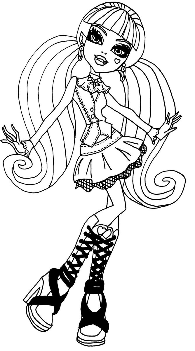 668x1197 Monster High Coloring Pages Draculaura