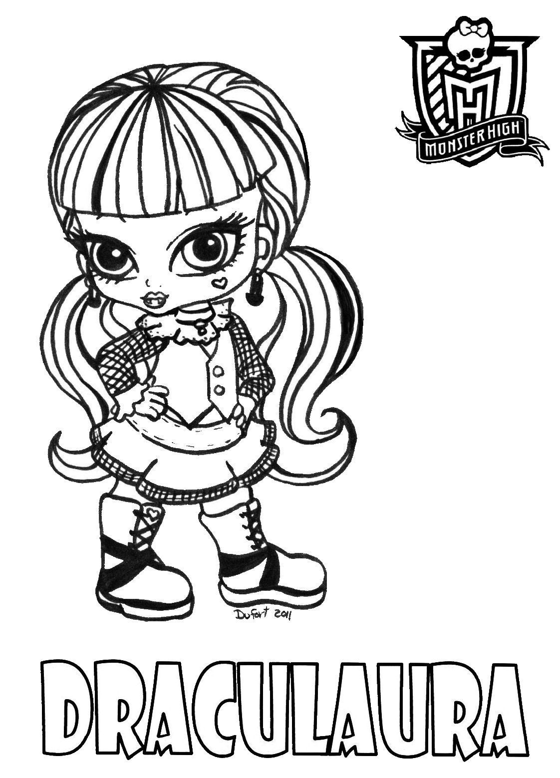 1122x1559 Baby Monster High Coloring Pages Baby Draculaura By