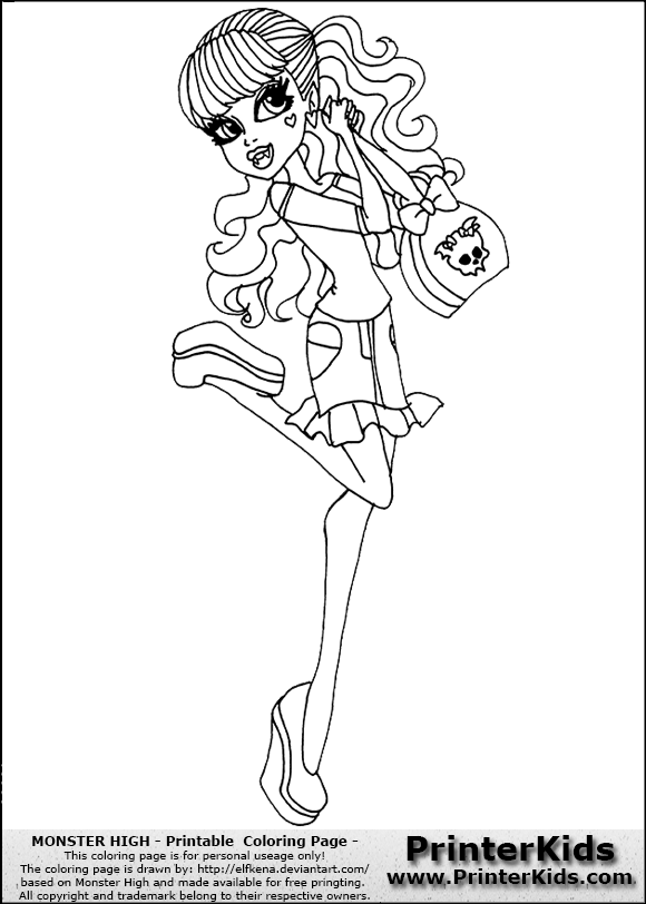 580x812 Monster High Draculaura Coloring
