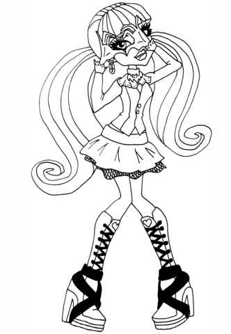 332x480 Monster High Draculaura Coloring Page Free Printable Coloring Pages