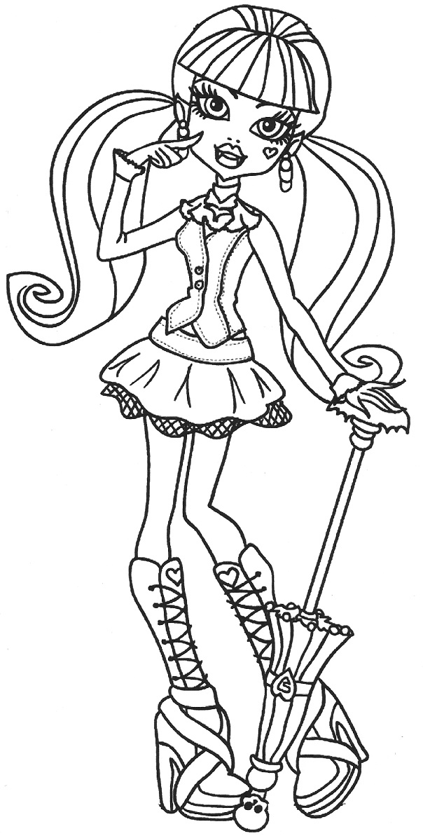 604x1196 Unique Monster High Coloring Pages Draculaura 89 For Your Print
