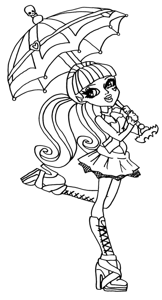 Monster High Draculaura Drawing at GetDrawings.com | Free for ...