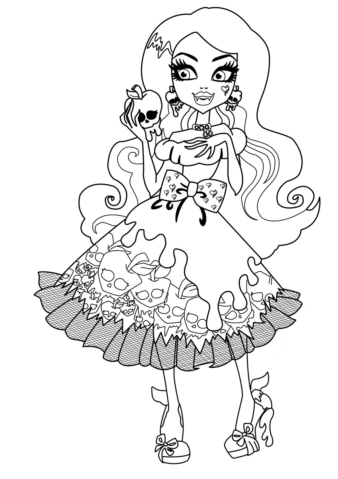 Ausmalbilder Monster High : Monster High Draculaura Drawing At Getdrawings Com Free For