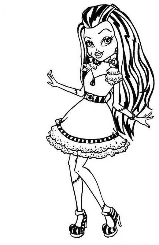 520x800 cute draculaura monster high coloring page