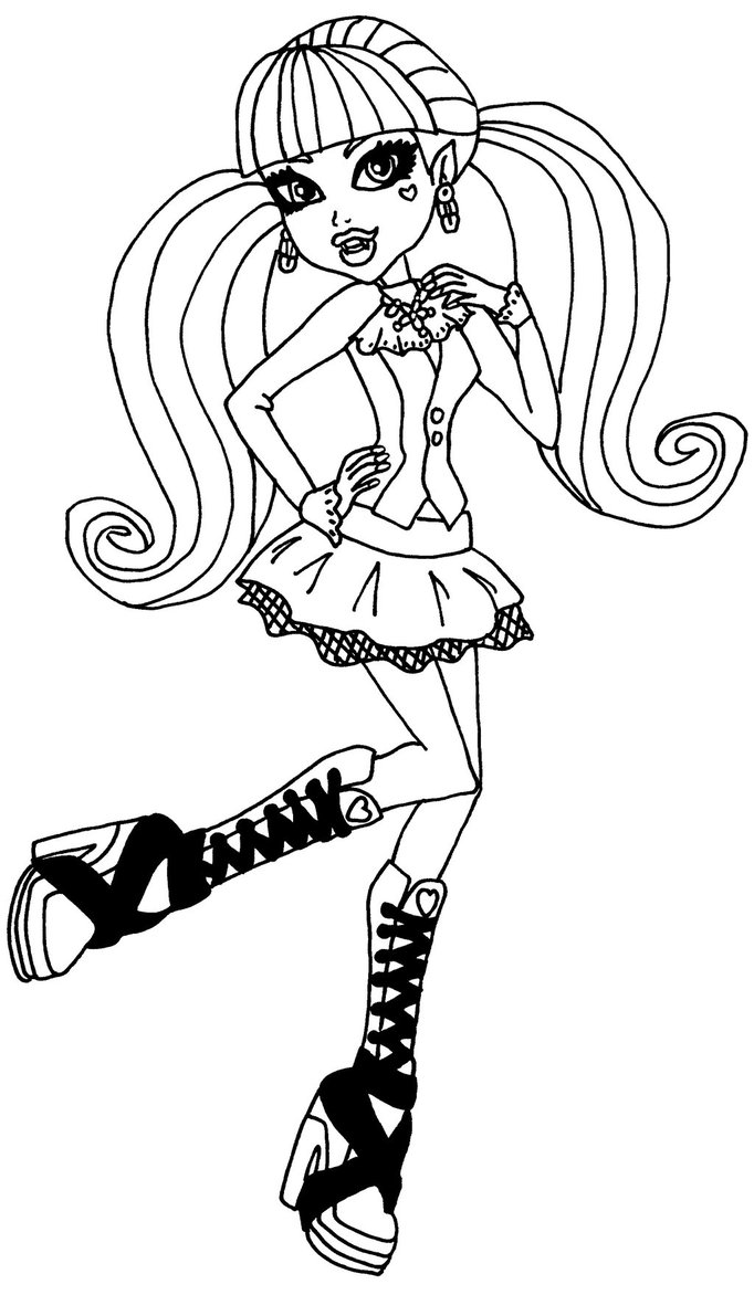 682x1172 Draculaura Monster High Coloring Pages
