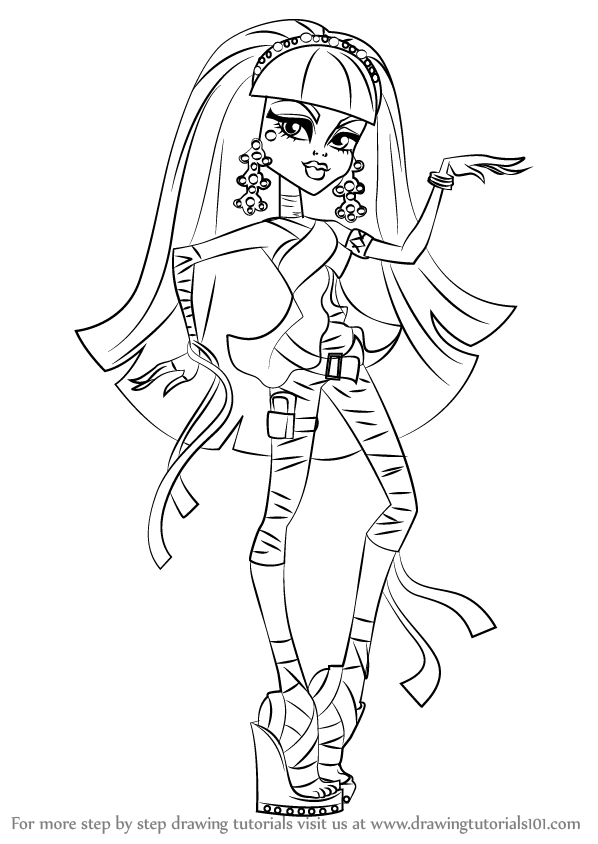 598x844 Learn How To Draw Cleo De Nile From Monster High (Monster High