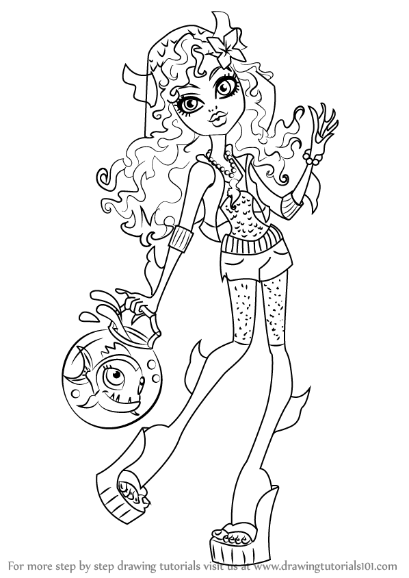 598x844 Learn How To Draw Lagoona Blue From Monster High (Monster High