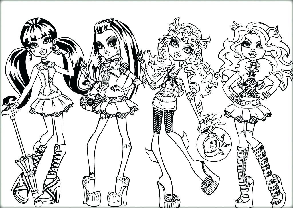 1024x727 Printable Monster High Coloring Pages Monster High Coloring Pages