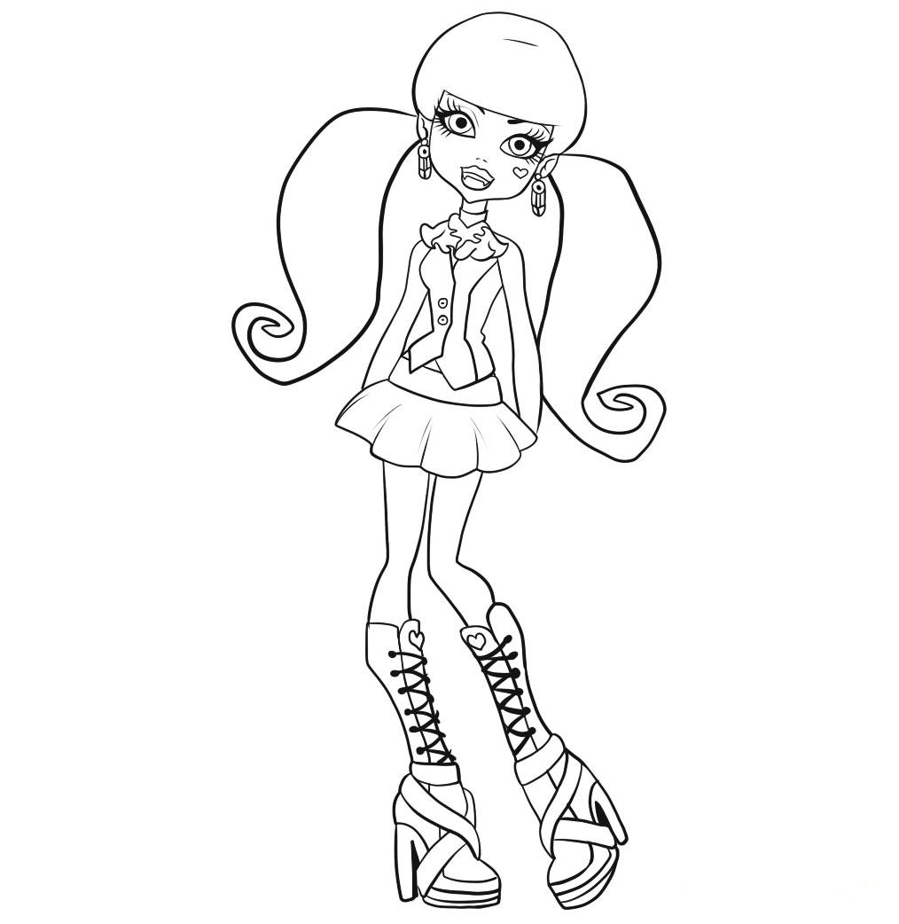 1014x1042 Free Printable Monster High Coloring Pages For Kids