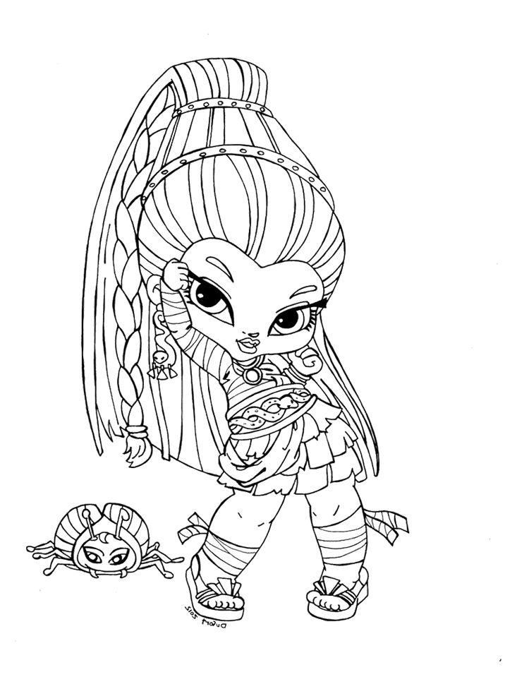 750x959 Monster High Baby Coloring Pages Nefera De Nile