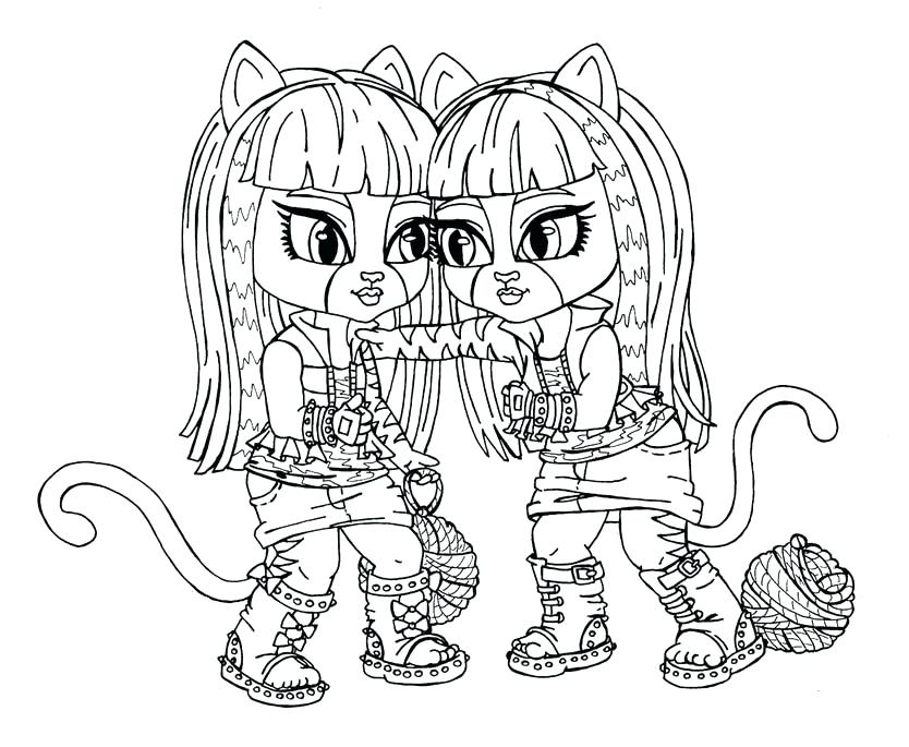 834x685 Monster High Color Page Wolf Monster High Coloring Pages Online