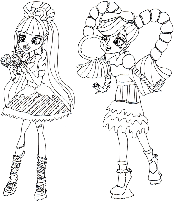 559x646 monster high coloring pages or on film monster high ghoulia spider - Monster High Coloring Pages