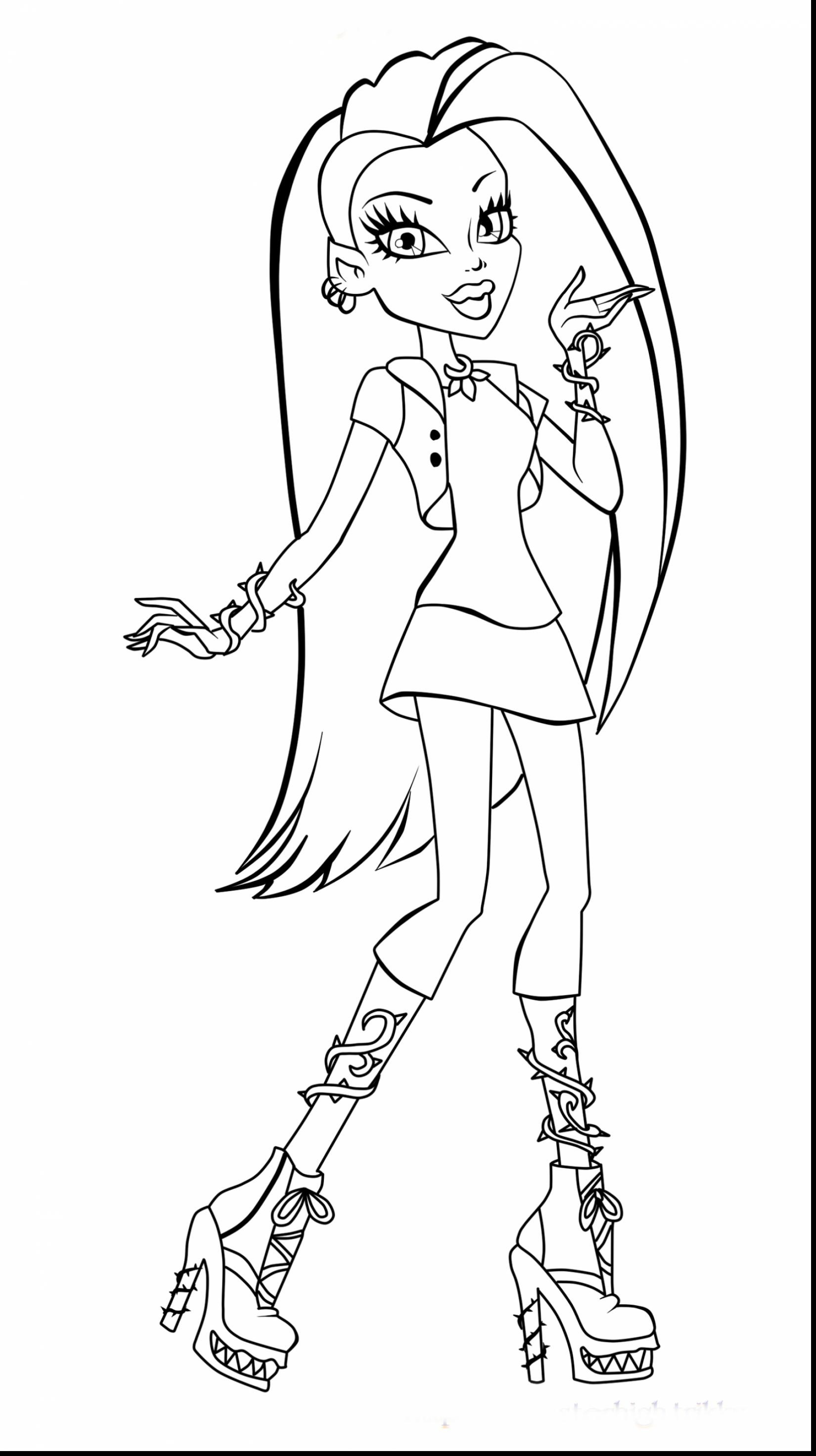 1650x2944 Monster High Coloring Pages Online Games Free Draw To Color