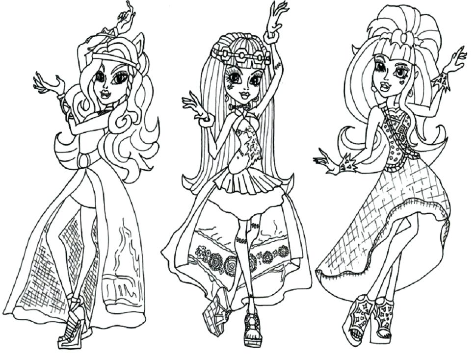 970x728 Coloring Monster High Games Hi Fabulous High Pages Games Sleepover