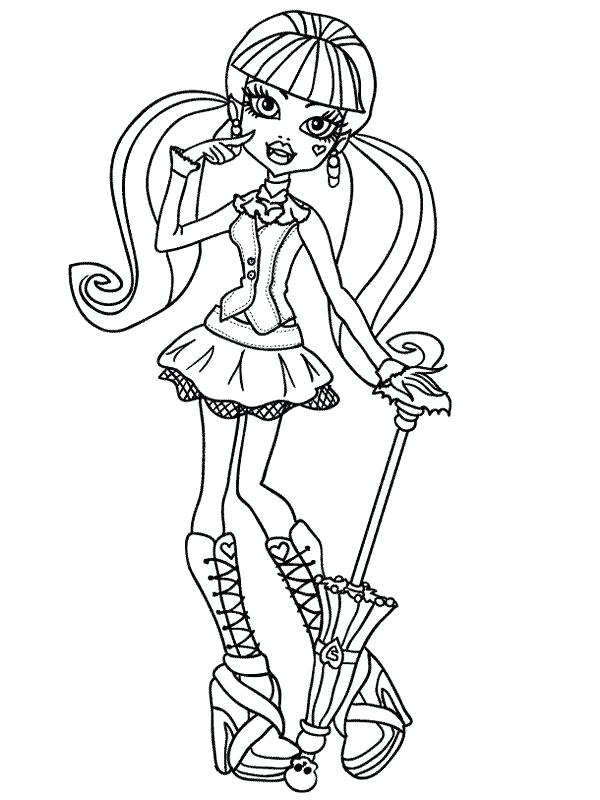 600x800 Coloring Pages For Girls Monster High Medium Size Of Monster Games