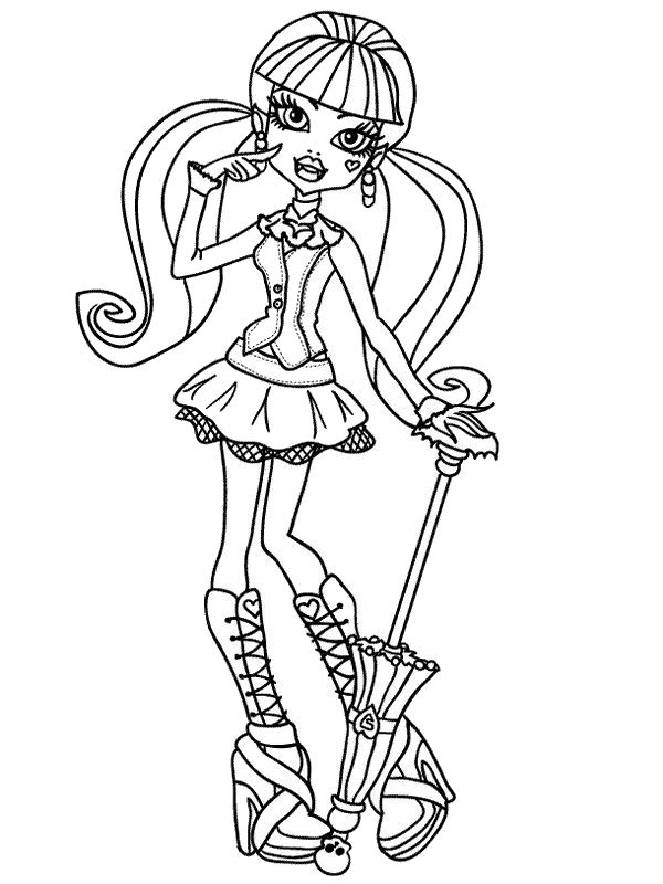 600x800 Draculaura Monster High Coloring Pages Haunted Halloween