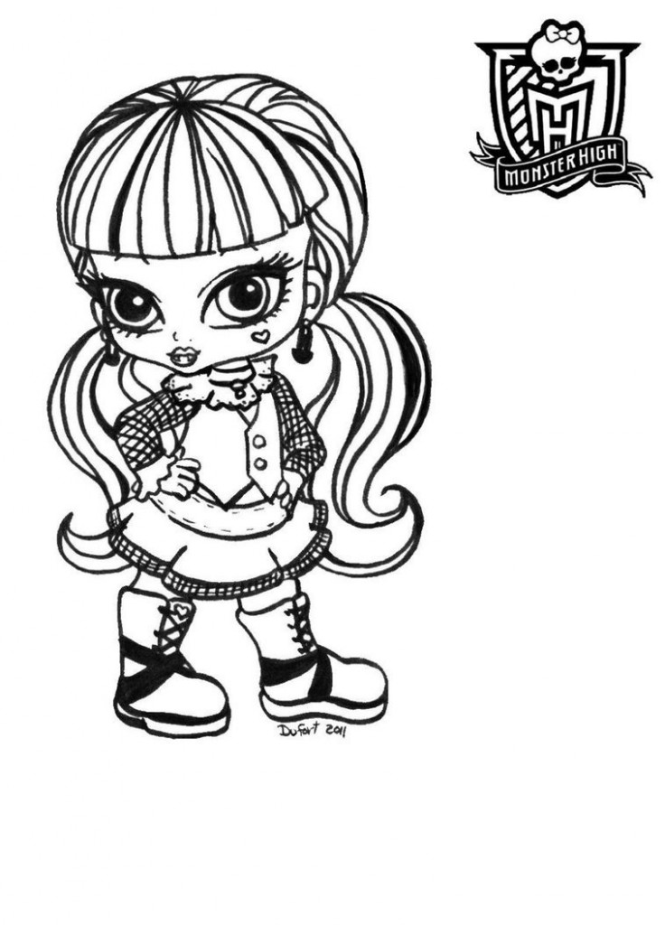 736x1024 Epic Monster High Baby Coloring Pages 50 For Online