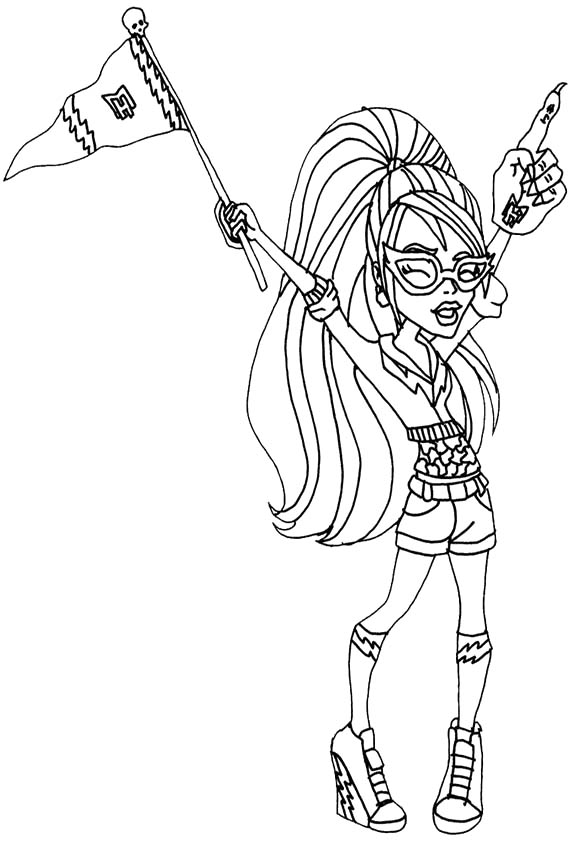 571x842 Ghoulia Yelps Feel Very Happy Coloring Pages