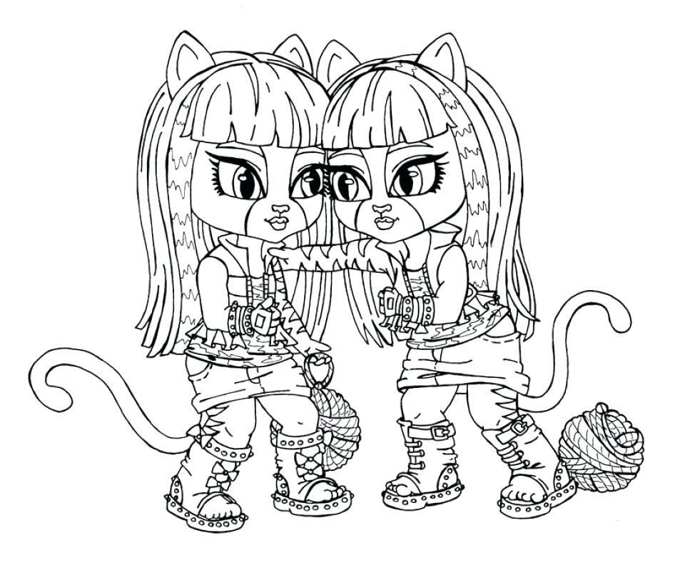 960x788 Monster High Coloring Pages Online Printable