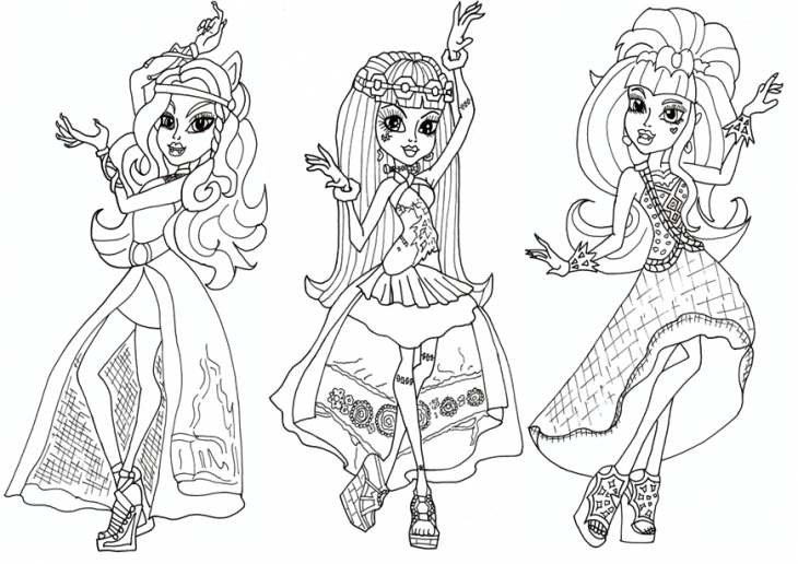 monster high drawing online at getdrawings com free for personal