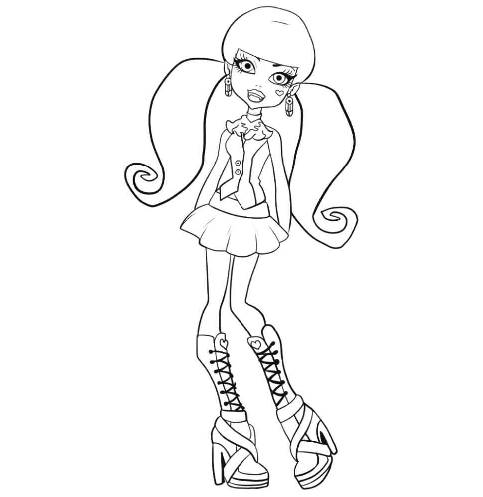 970x997 Coloring Monster High Coloring Pages Draculaura