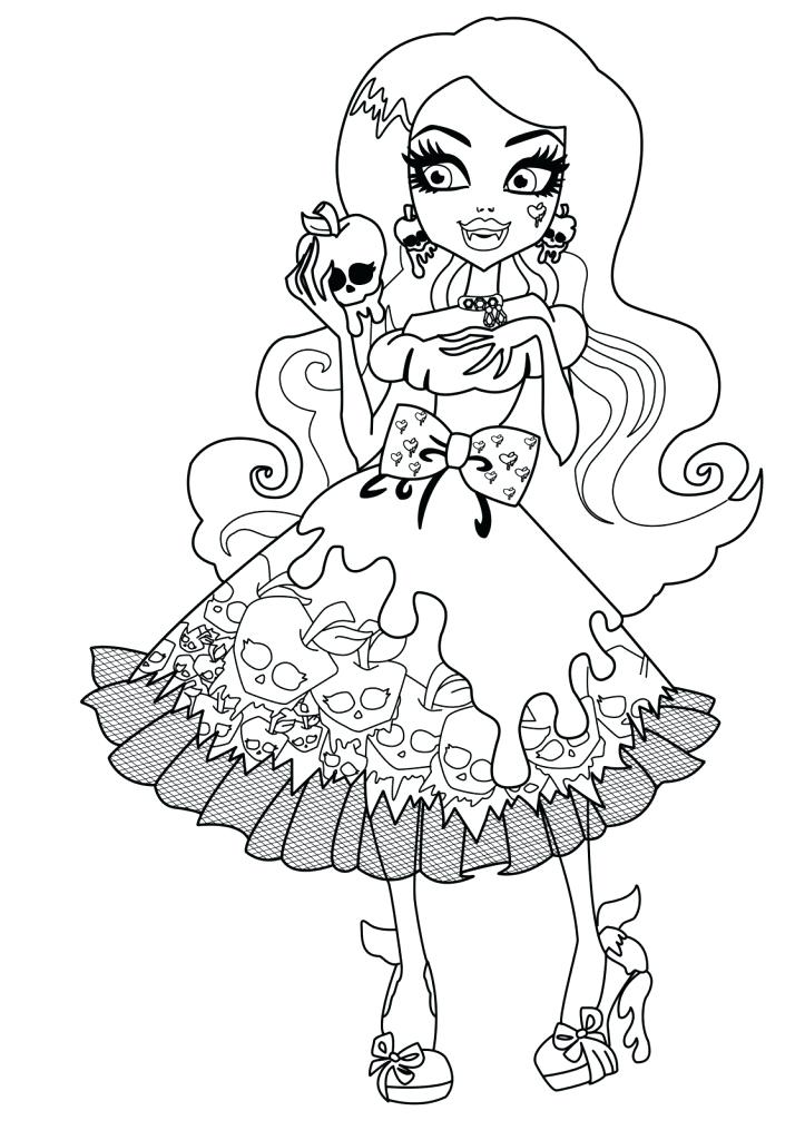 723x1024 Coloring Pages Monster High Draw Monster High Color Pages