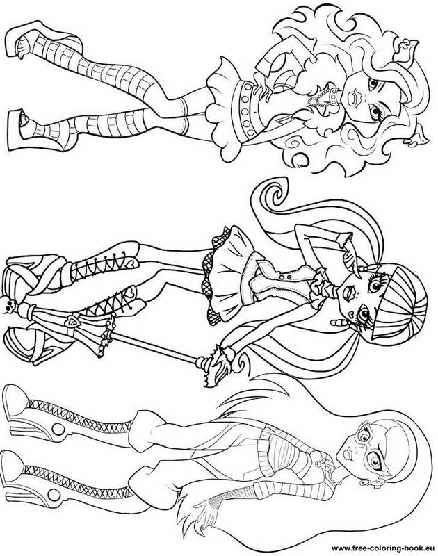 630x800 Coloring Pages Monster High