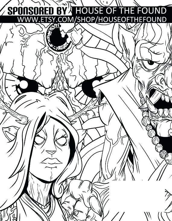 570x731 Monster House Coloring Pages Affan