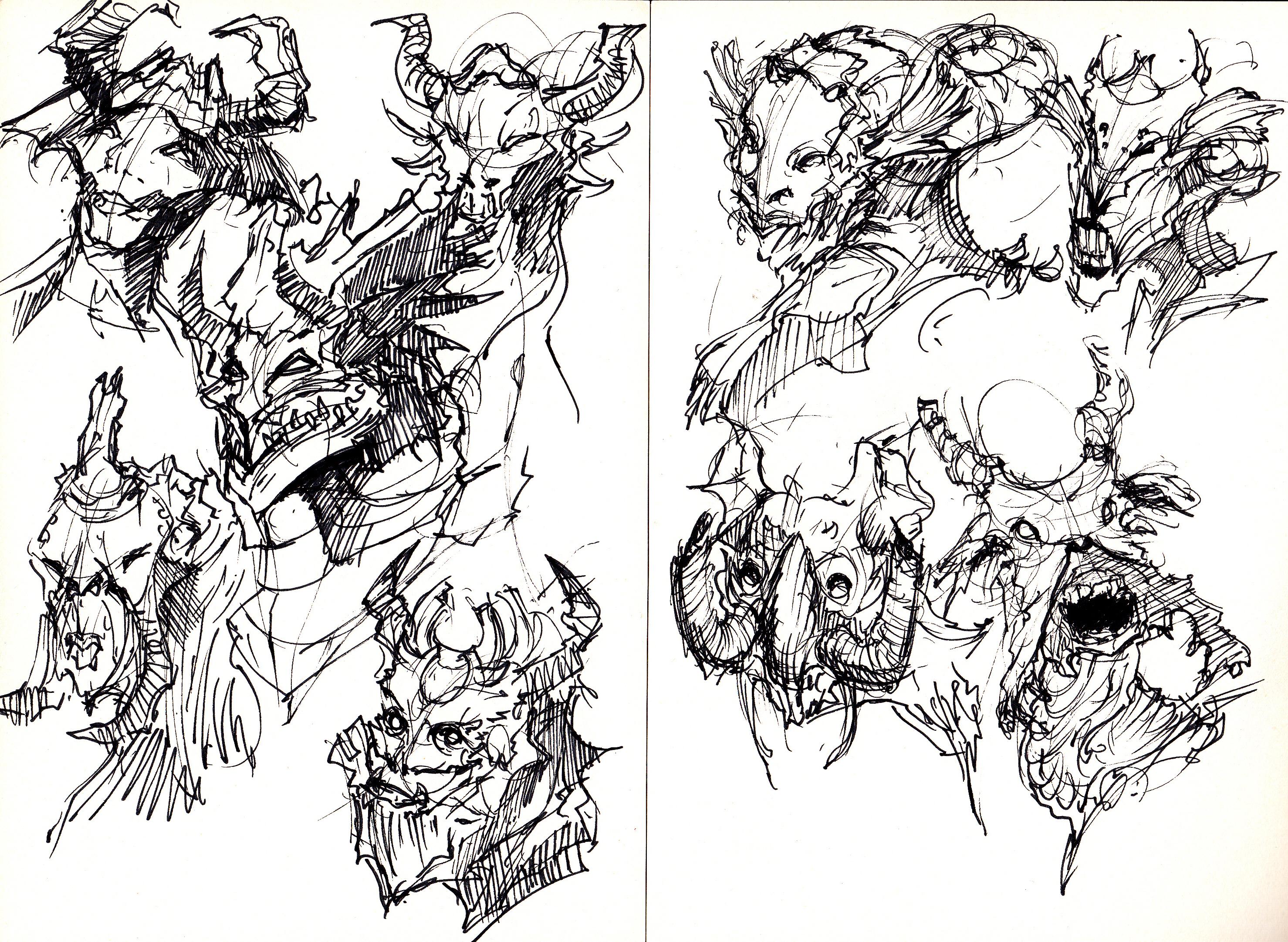2957x2163 Monster Sketch! Draw, Monster! Draw!