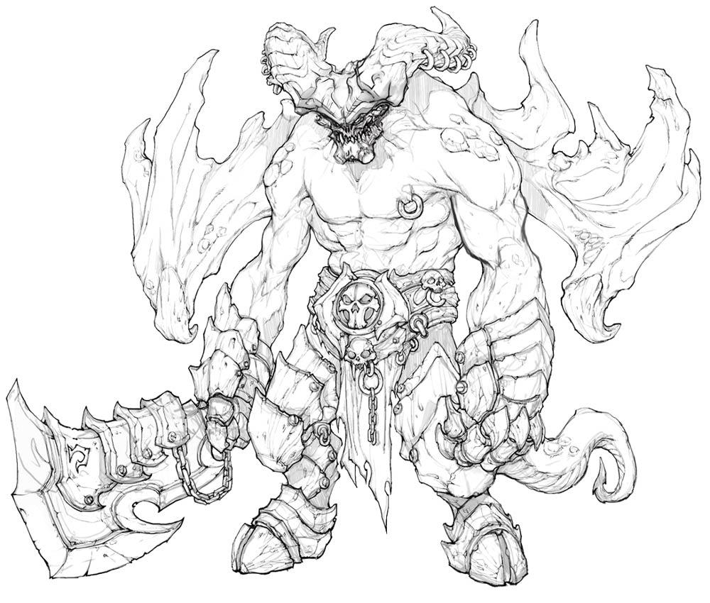 1000x850 Monster Sketch Video Games Artwork