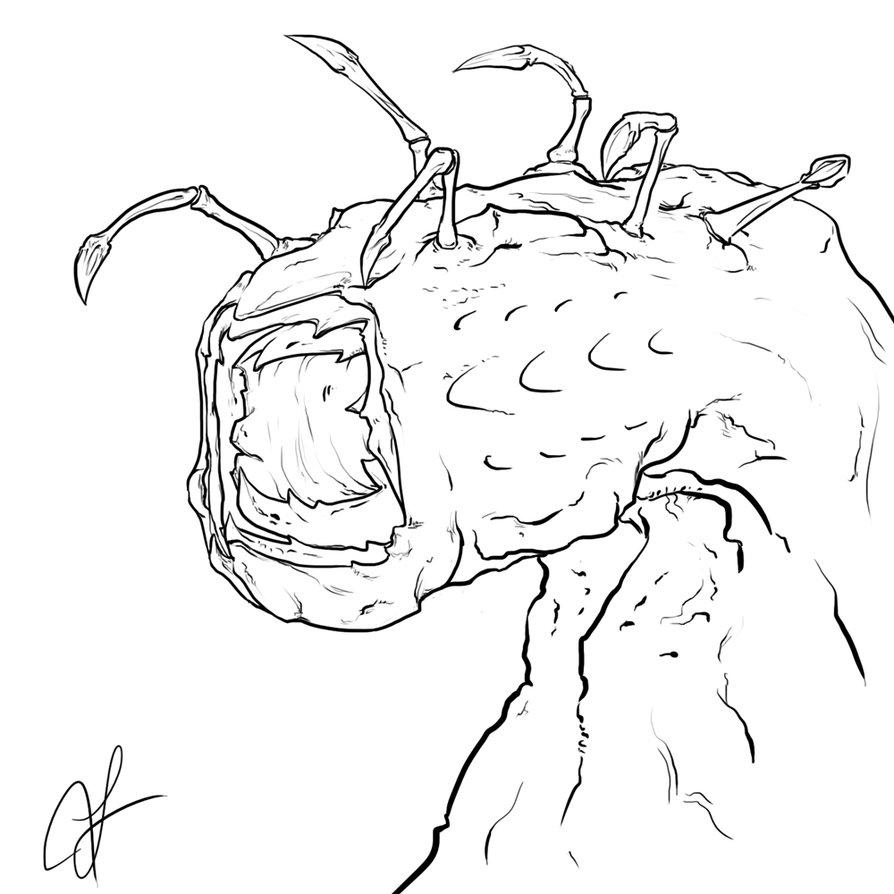 894x894 Random Monster Lineart By Hammn
