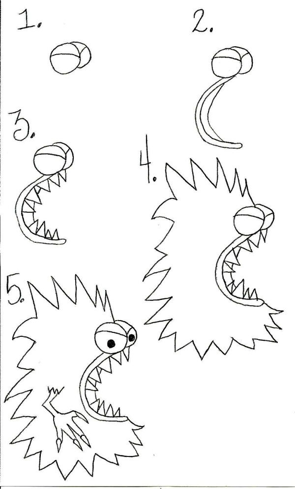 600x993 Maker Tutorial} How To Draw A Spiky Monster Knot By Gran'Ma