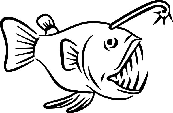600x394 Monster Fish Sharp Teeth Coloring Pages Color Luna