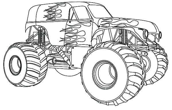 600x383 Epic Monster Truck Coloring Pages Best Of Drawing With Kids