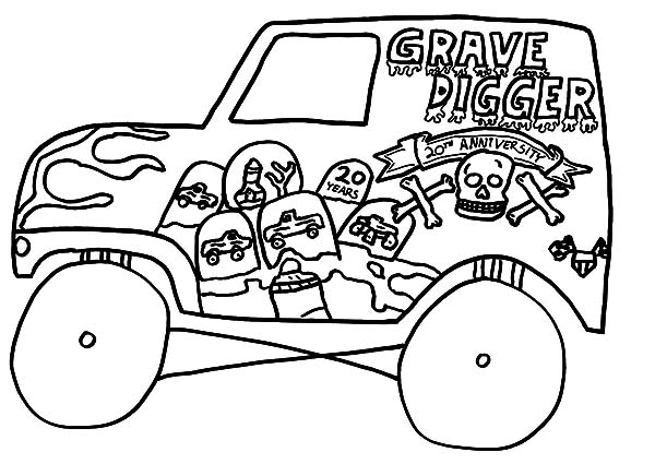 600x436 Kids Drawing Monster Jam Truck Coloring Pages Color Luna