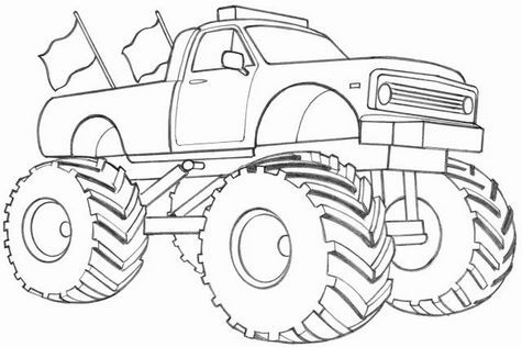 475x316 Learn How To Draw A Monster Truck Projects To Try