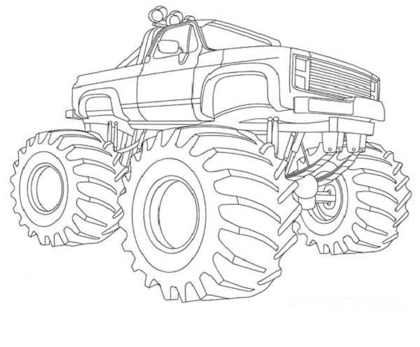 600x495 Monster Truck Coloring Book