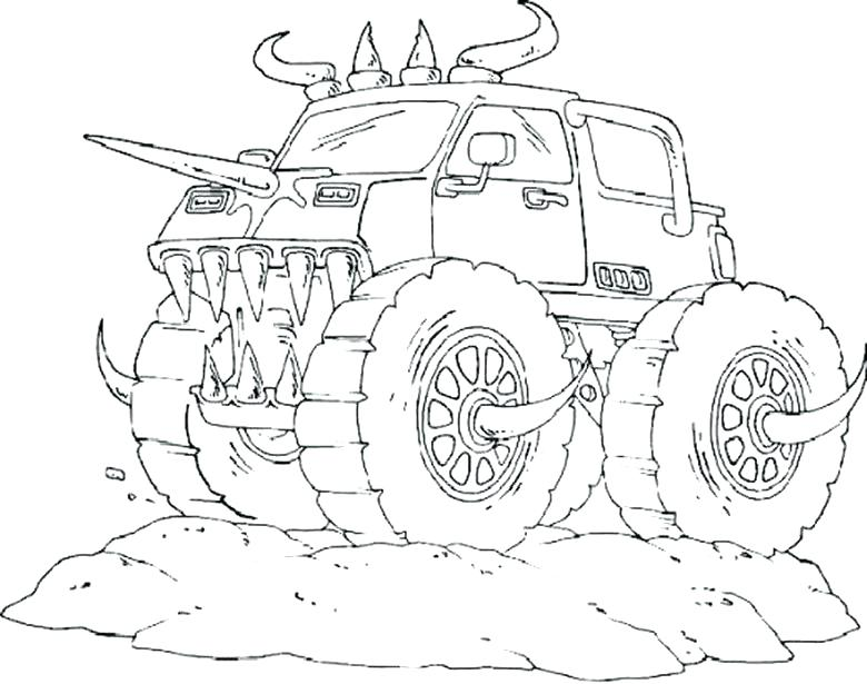 780x615 Monster Truck For Coloring Plus Monster Truck Coloring Page 483