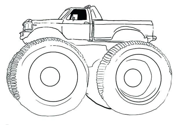 Lifted Chevy Truck Drawings A Chevy Pickup Monster Truck