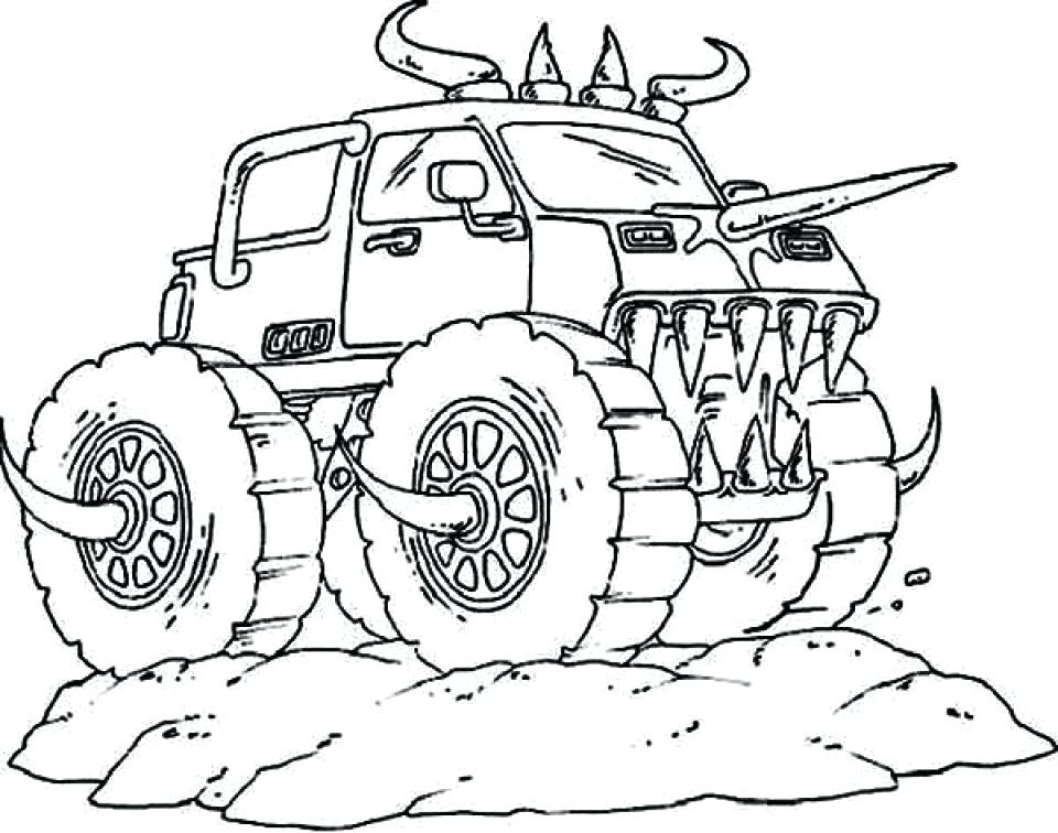 960x756 Monster Truck Coloring Pages