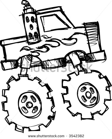 380x470 Monster Truck Drawings Images