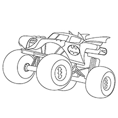 230x230 Coloring Pages Coloring Pages Draw A Monster Truck Batman