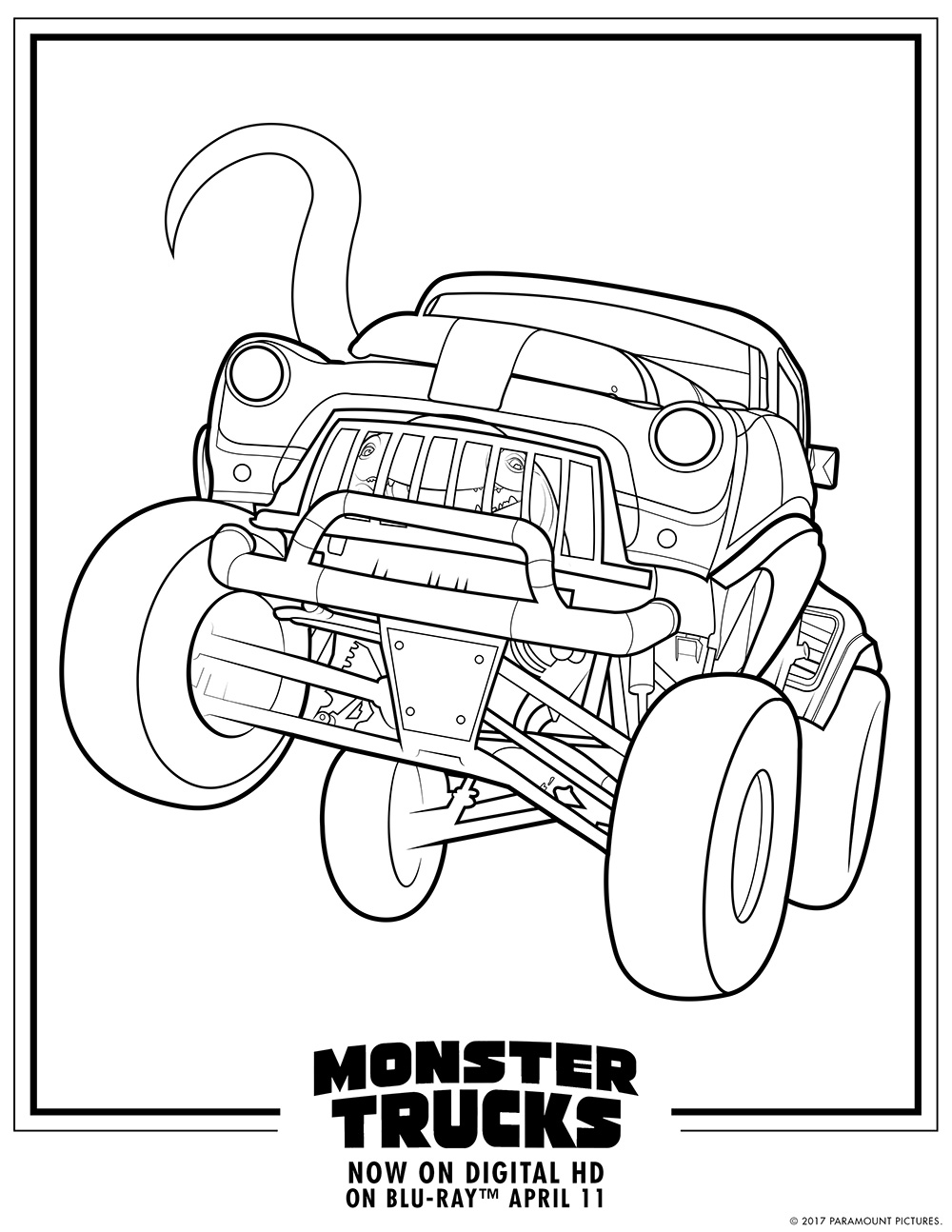1000x1294 Coloring Pages Draw A Monster Truck