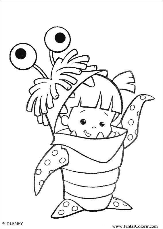 567x794 Drawings To Paint Amp Colour Monsters, Inc.