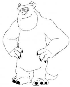 245x302 How To Draw How To Draw Sulley From Monsters Inc