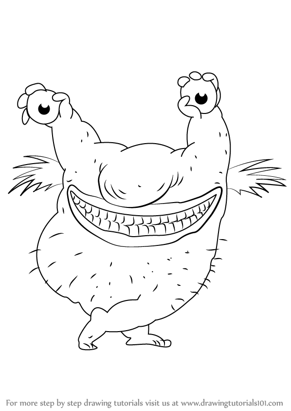 598x844 Learn How To Draw Krumm From Aaahh!!! Real Monsters (Aaahh!!! Real