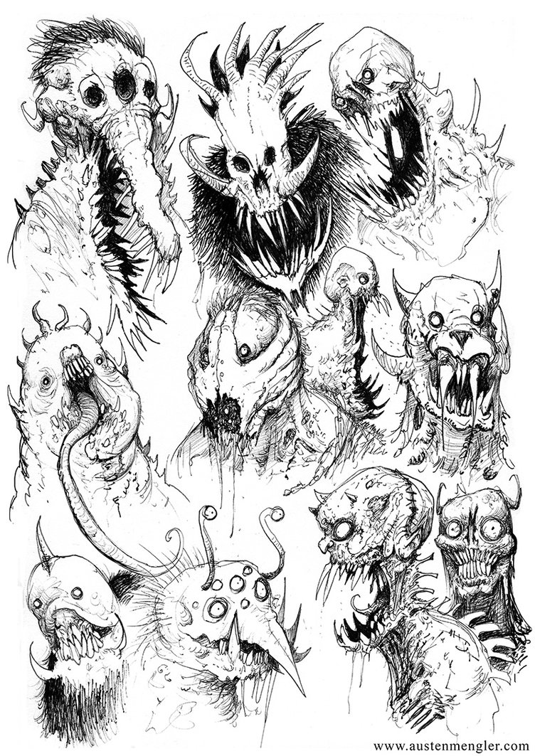 752x1063 Monsters 01 By Austenmengler