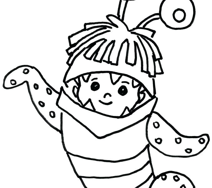 678x600 Monster Inc Coloring Pages Monsters Drawing Best