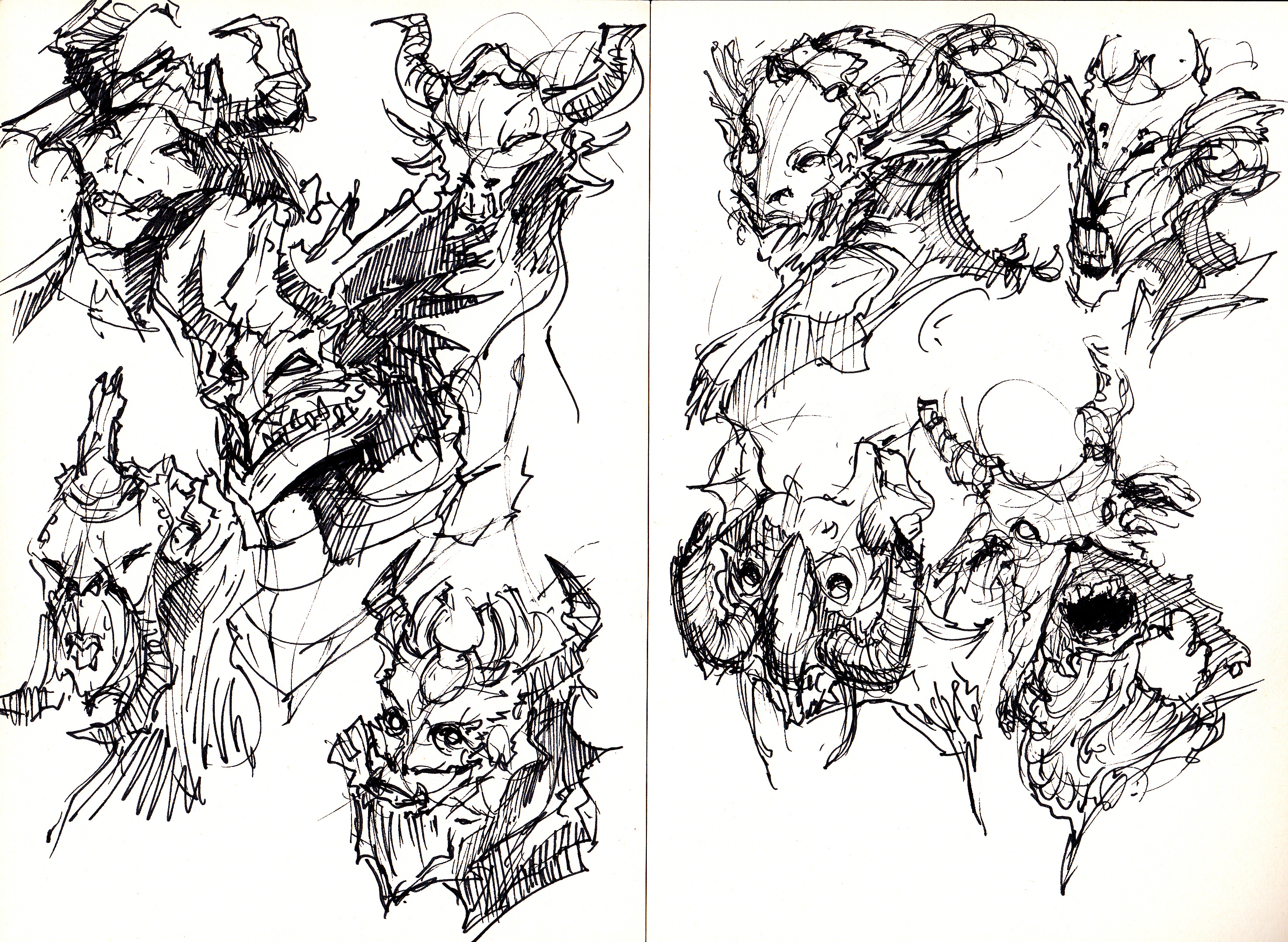 2957x2163 Monster Sketch! Monster Drawing, Monsters And Sketches
